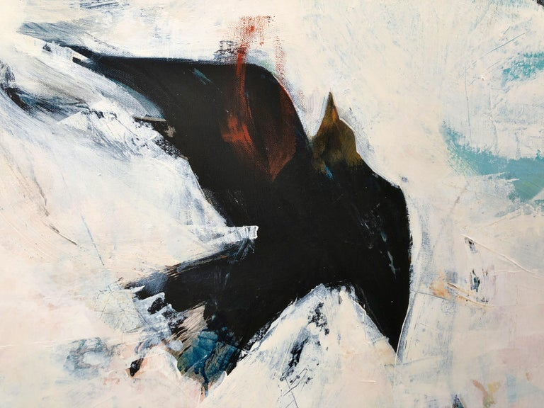 English Playful Rooks, Contemporary Oil Painting For Sale