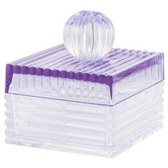 Playful Small Clear/Purple Box