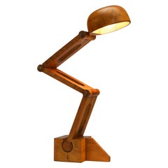 Playful Table Lamp by Paolo Pallucco in Solid Oak