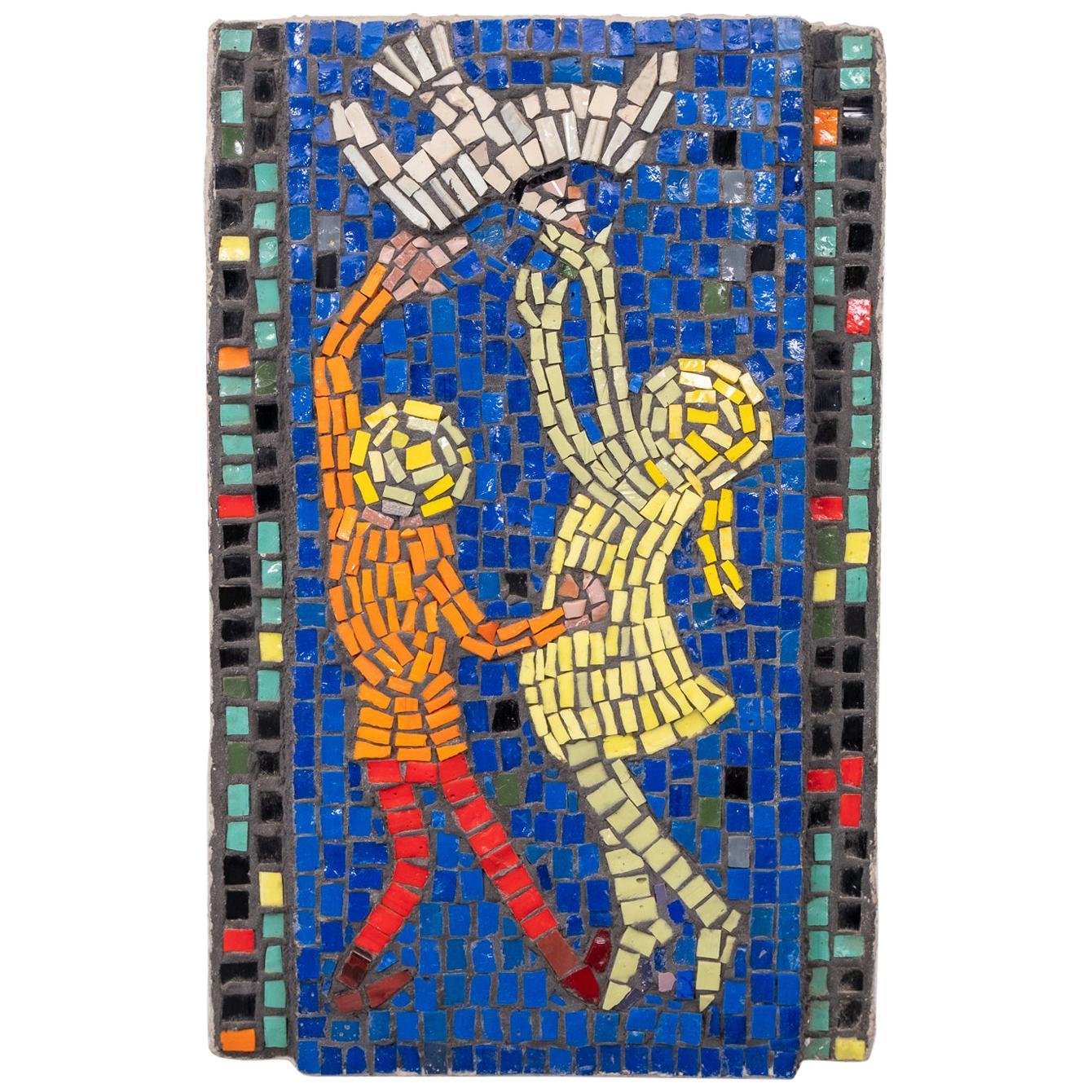 Playing Children Glass Mosaic, 1960s