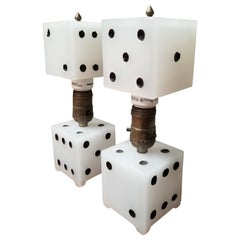 Playing Dice Table Lamps, circa 1950s