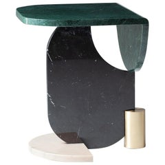 Side Table in Marble and Brass Playing Games