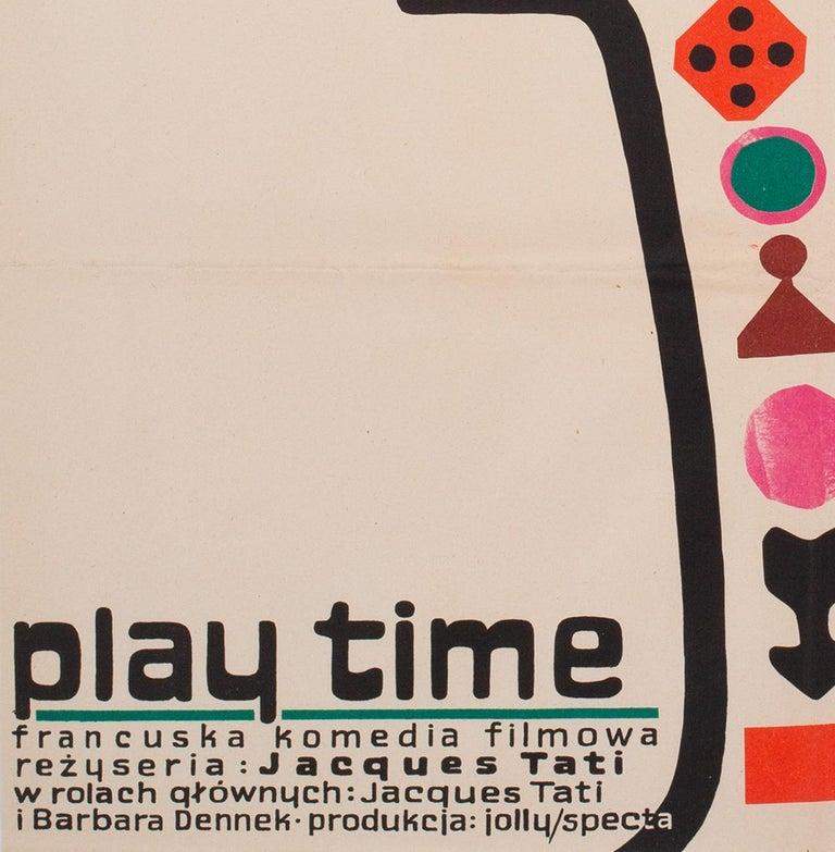 Playtime 1971 Polish A1 Film Movie Poster, Flisak For Sale 2