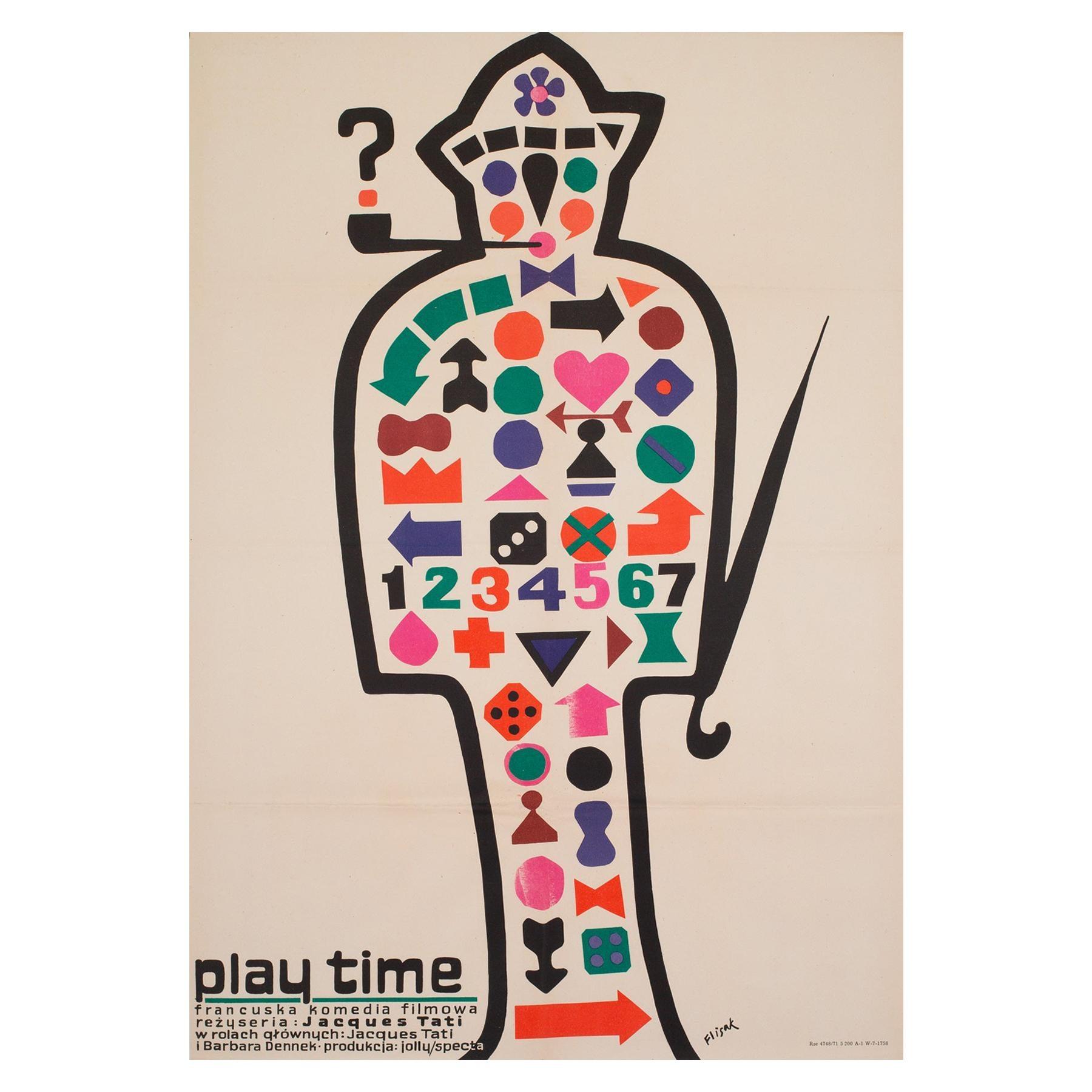 Playtime 1971 Polish A1 Film Movie Poster, Flisak