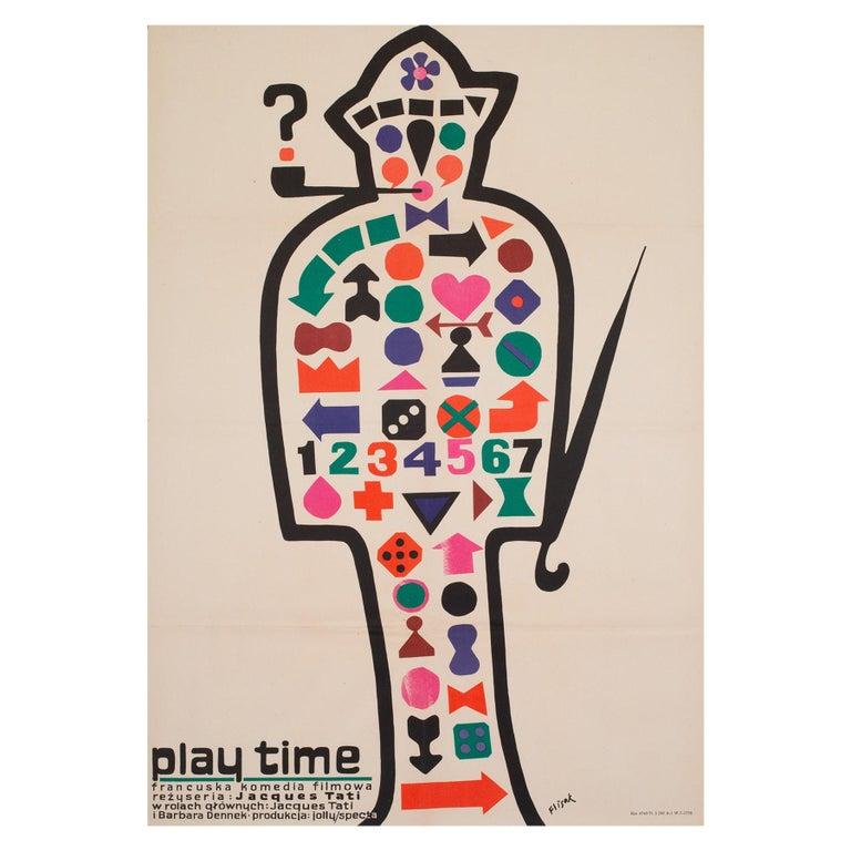 Playtime 1971 Polish A1 Film Movie Poster, Flisak For Sale