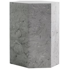 Playtime Series, Side or End Table Handmade Hydrostone Scagliola