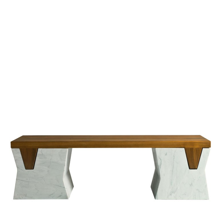 Modern Plaza Bench by Paolo Salvadè by MGM Marmi & Graniti For Sale