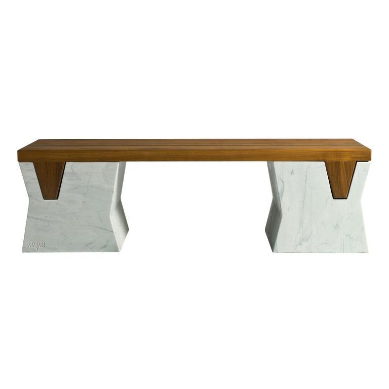 Plaza Bench by Paolo Salvadè by MGM Marmi & Graniti For Sale