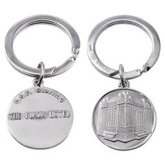 Plaza Hotel Sterling Silver Key Ring