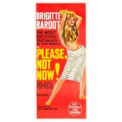 'Please, Not Now!' Vintage Australian Daybill Movie Poster, 1963