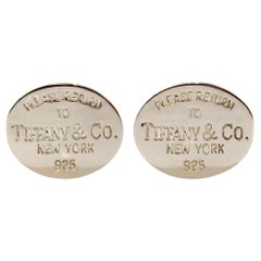 Please Return To Tiffany & Co. New York Sterling Silver Cufflinks