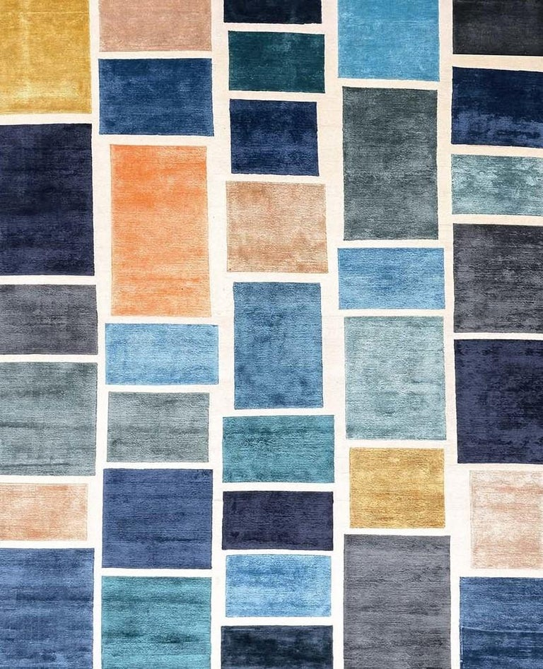 Hand-Knotted Please Wait...Rug by Luca Nichetto For Sale