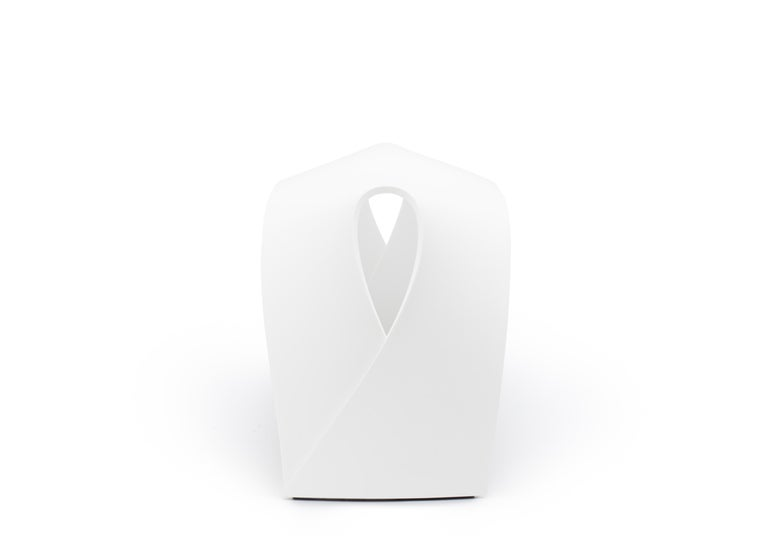 Contemporary Pleat, White Corian Bench Seat for Indoor & Outdoor Use by Made in Ratio For Sale