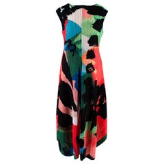 Pleats Please Issey Miyake Floral Print Dress - Size M