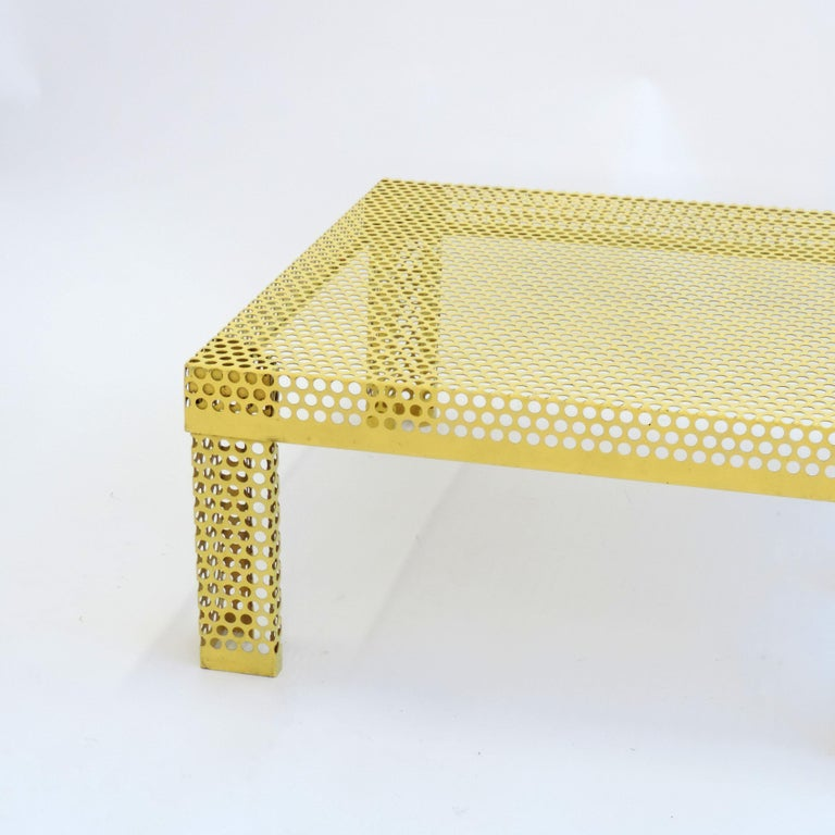 Modern 'Pleinair' Low Table in Perforated Metal by Ammannati & Vitelli for Brunati For Sale