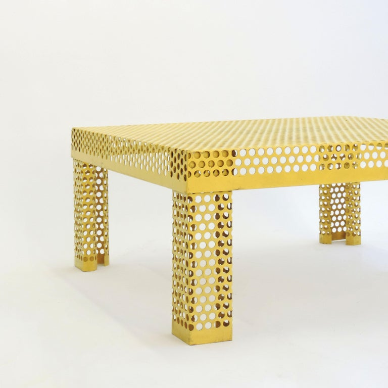 Late 20th Century 'Pleinair' Low Table in Perforated Metal by Ammannati & Vitelli for Brunati For Sale