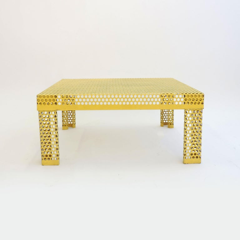 'Pleinair' Low Table in Perforated Metal by Ammannati & Vitelli for Brunati For Sale 1
