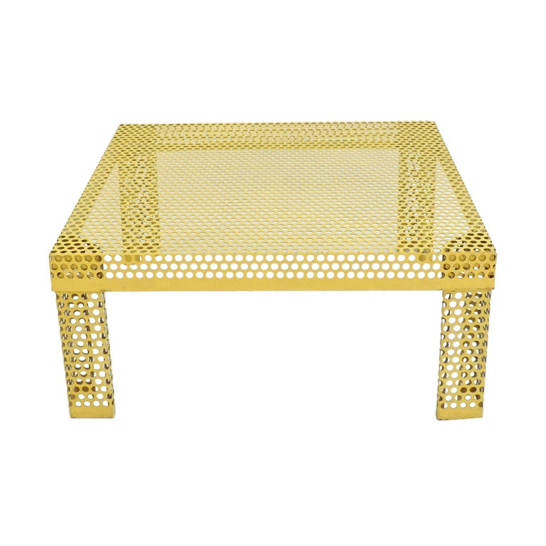 'Pleinair' Low Table in Perforated Metal by Ammannati & Vitelli for Brunati For Sale