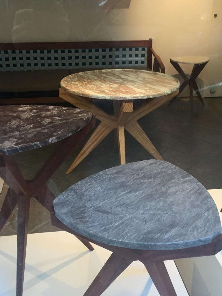Marble Plettro Side Table For Sale
