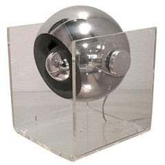 Plexi Box Chrome Lamp
