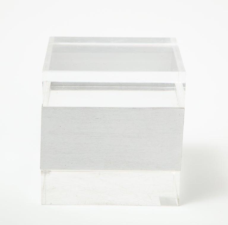 Italian Plexi Square Box, Italy, 1970s For Sale