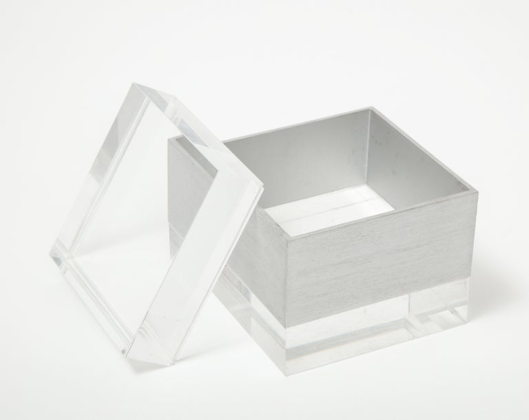 Plexi Square Box, Italy, 1970s In Good Condition For Sale In New York City, NY
