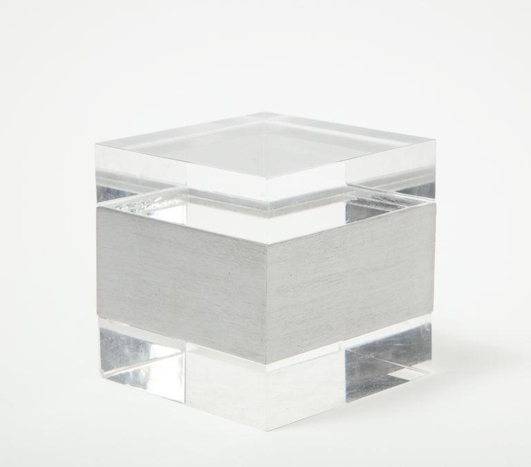 Plexiglass Plexi Square Box, Italy, 1970s For Sale