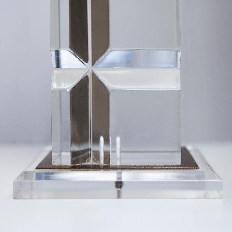 Plexiglas Table Lamps France 1970s In Good Condition For Sale In Munich, DE