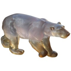 Plexiglass Bear from the 1970s Italian Manufacture Single Block