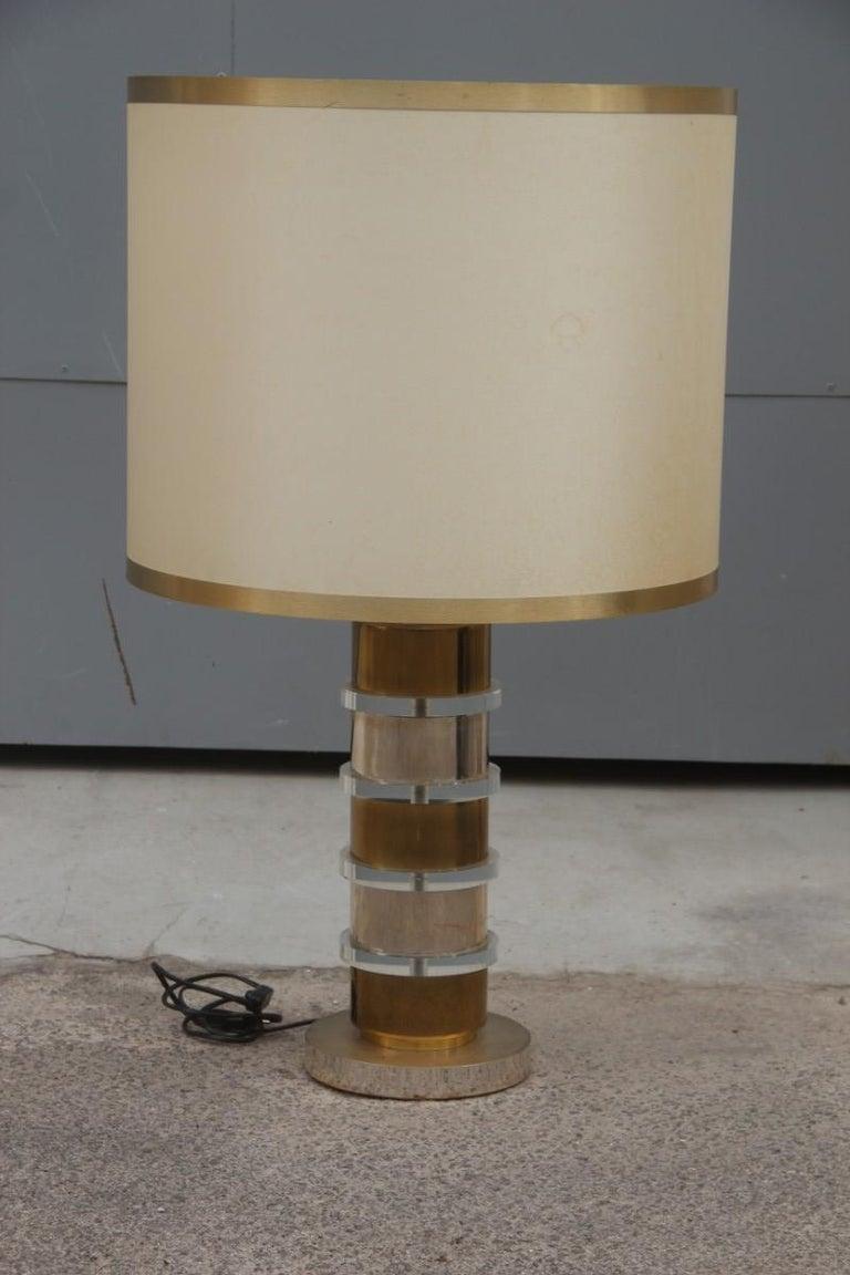 Plexiglass Metal Chrome Table Lamp, 1970s Italian design  For Sale 2