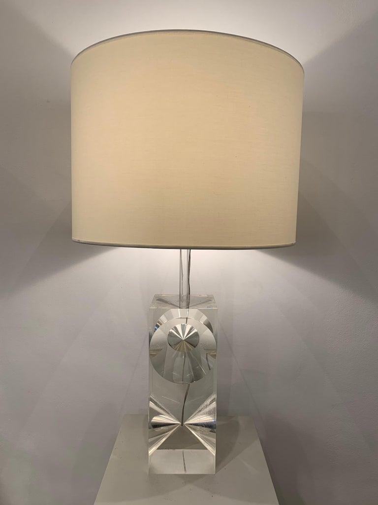 Plexiglass Table Lamp, 1960s, France For Sale 1