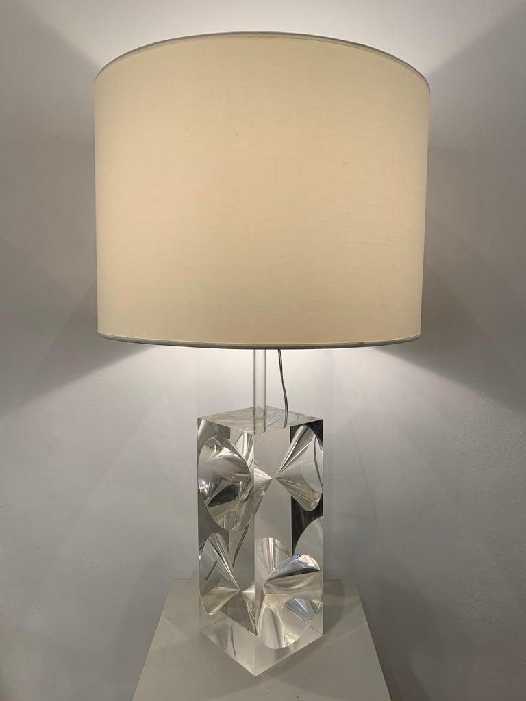 Plexiglass Table Lamp, 1960s, France For Sale 2