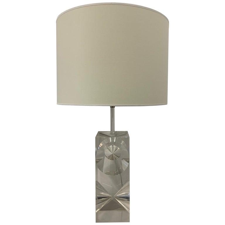 Plexiglass Table Lamp, 1960s, France For Sale
