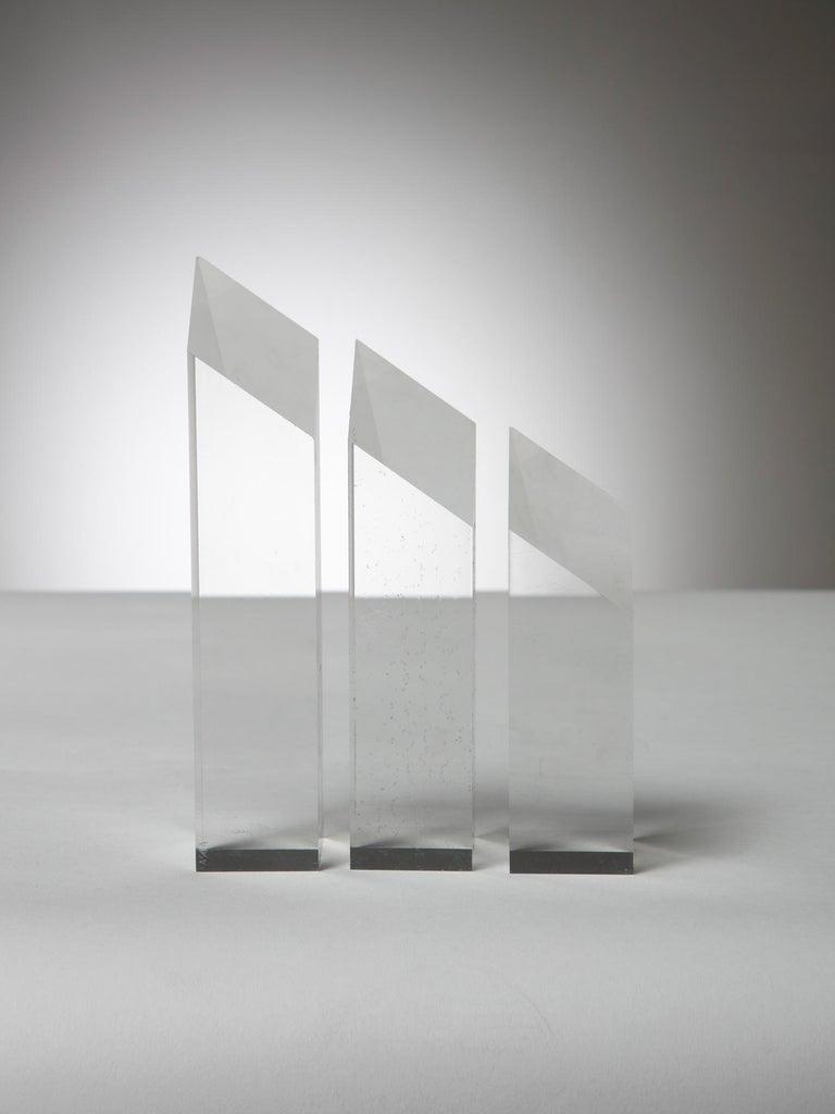 Italian Plexiglass Triptych by Alessio Tasca for Fusina For Sale