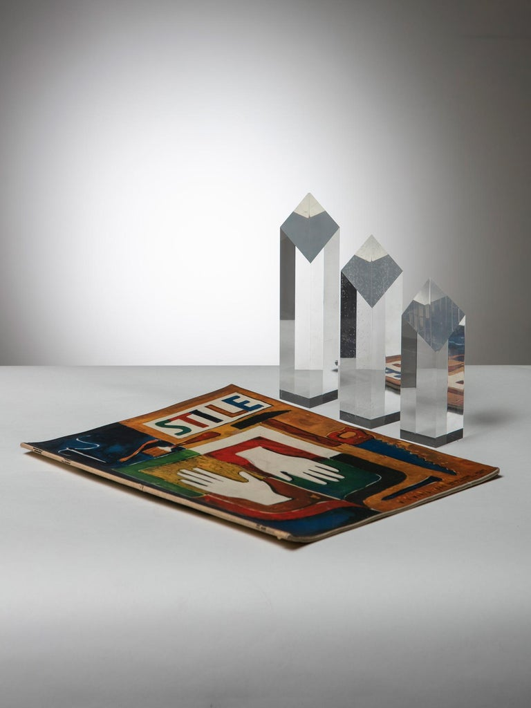 Plexiglass Triptych by Alessio Tasca for Fusina In Good Condition For Sale In Milan, IT
