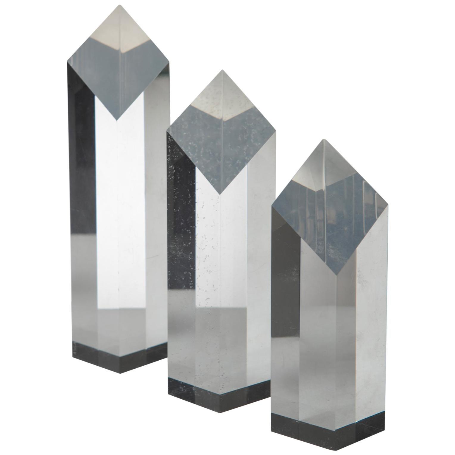 Plexiglass Triptych by Alessio Tasca for Fusina