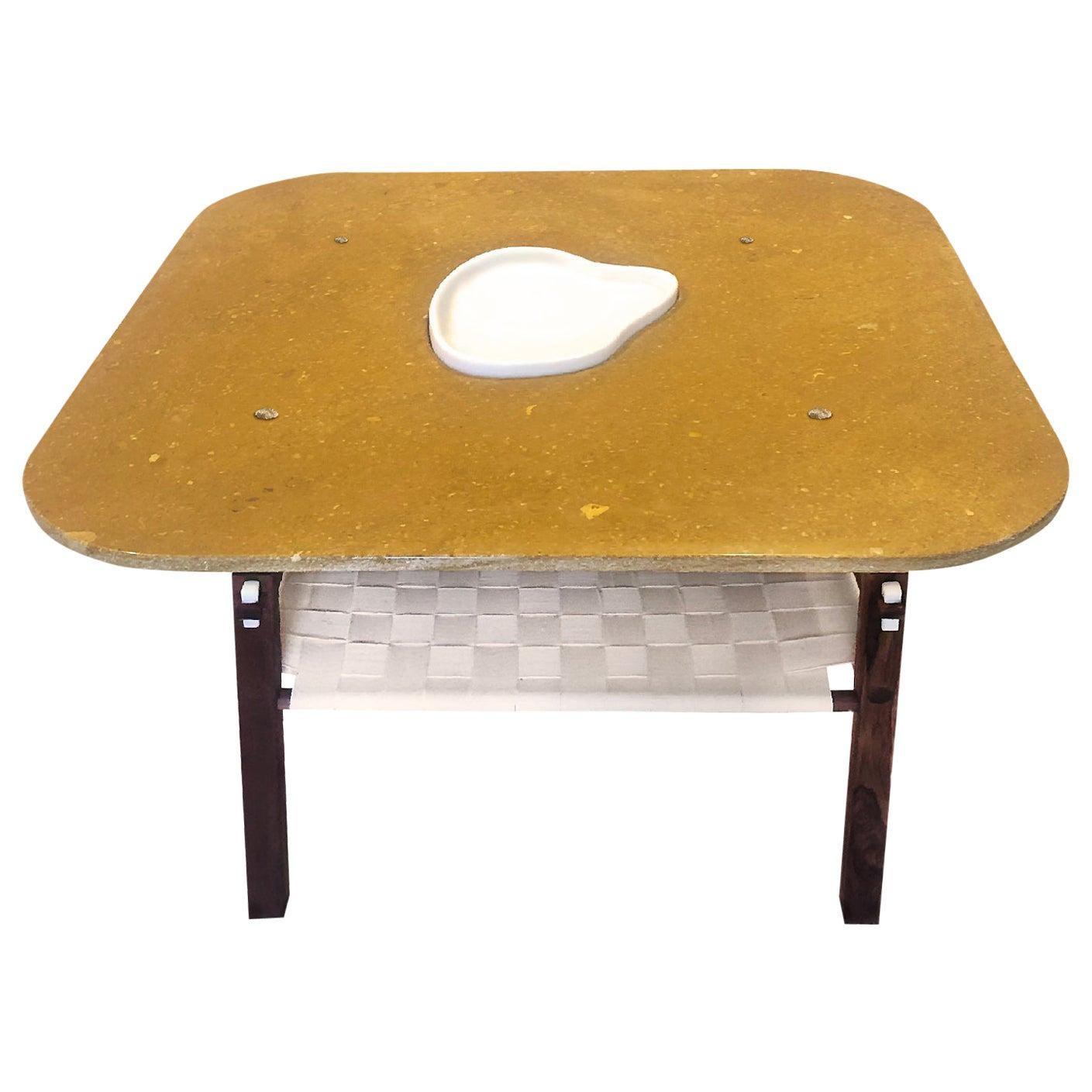 Pleyel, a Marble and Wood Coffee Table, Matang