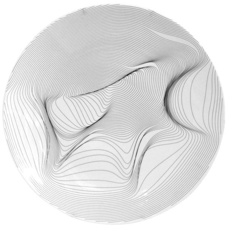 """P.li "" platter by Andrea Macruz, Brazilian Contemporary Design For Sale"
