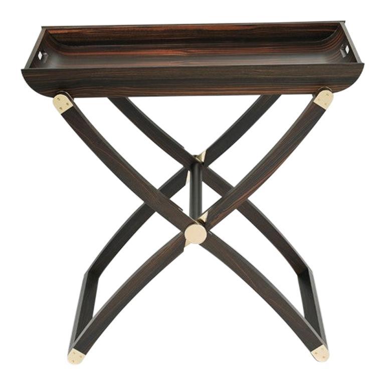 Plie Ebony Folding Coffee Table contemporary design by Giordano Viganò For Sale