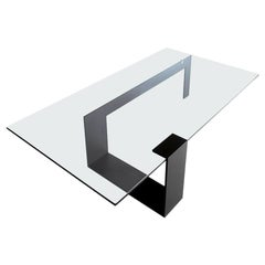 Plinsky Glass Coffee Table, Designed by Giulio Mancini, Made in Italy
