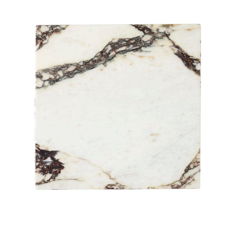 Scandinavian Modern Plinth, Cubic, Rose Marble For Sale