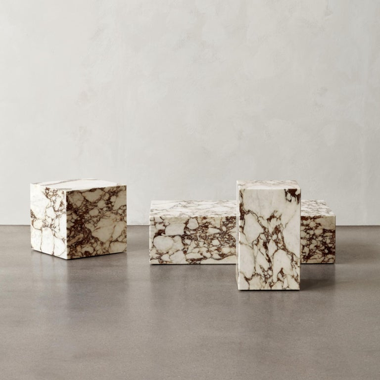 Plinth, Cubic, Rose Marble In New Condition For Sale In San Marcos, CA