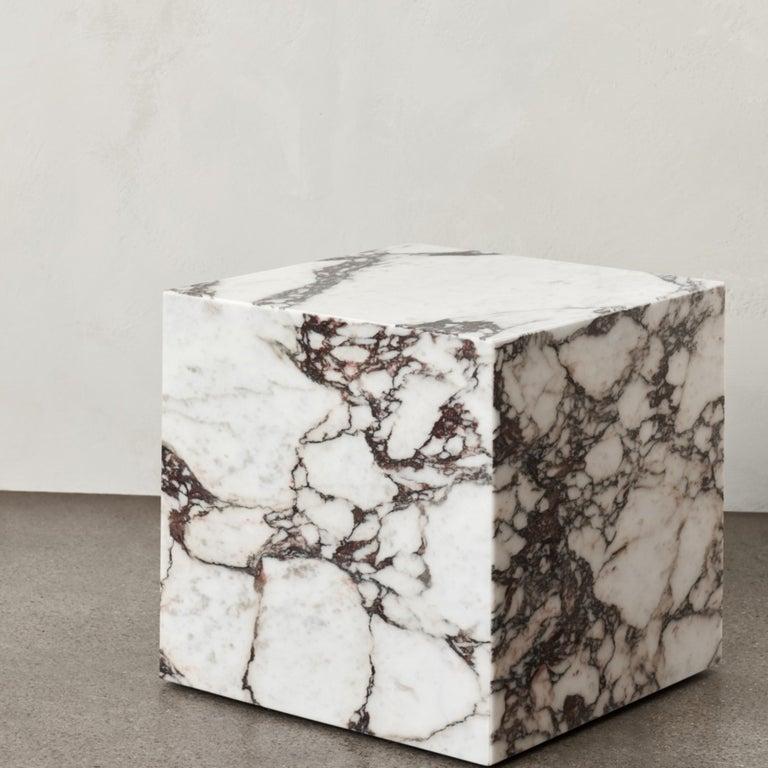 Plinth, Cubic, Rose Marble For Sale 1