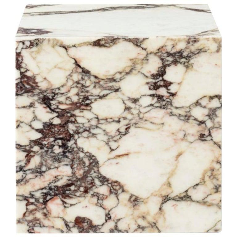Plinth, Cubic, Rose Marble For Sale