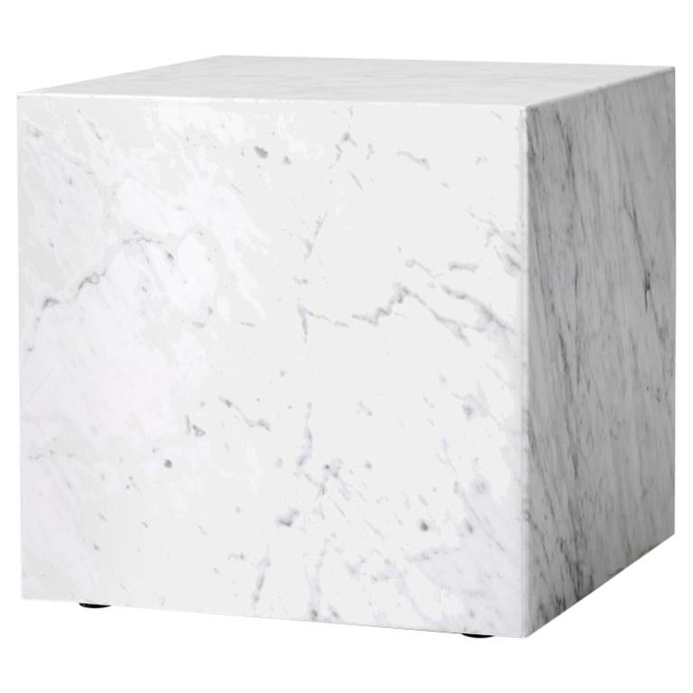 Plinth, Cubic, White Marble For Sale
