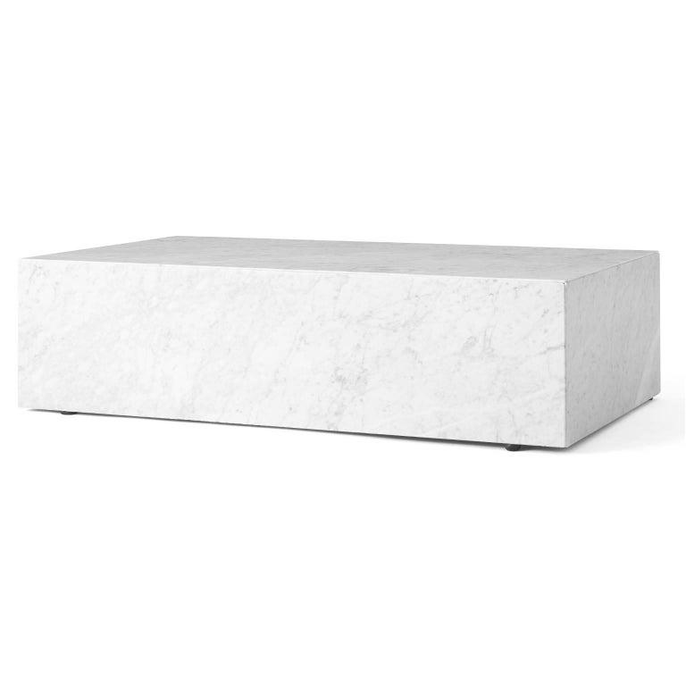 Scandinavian Modern Plinth, Low, Black Marble For Sale