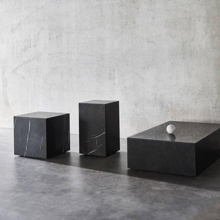 Plinth, Low, Black Marble For Sale 2