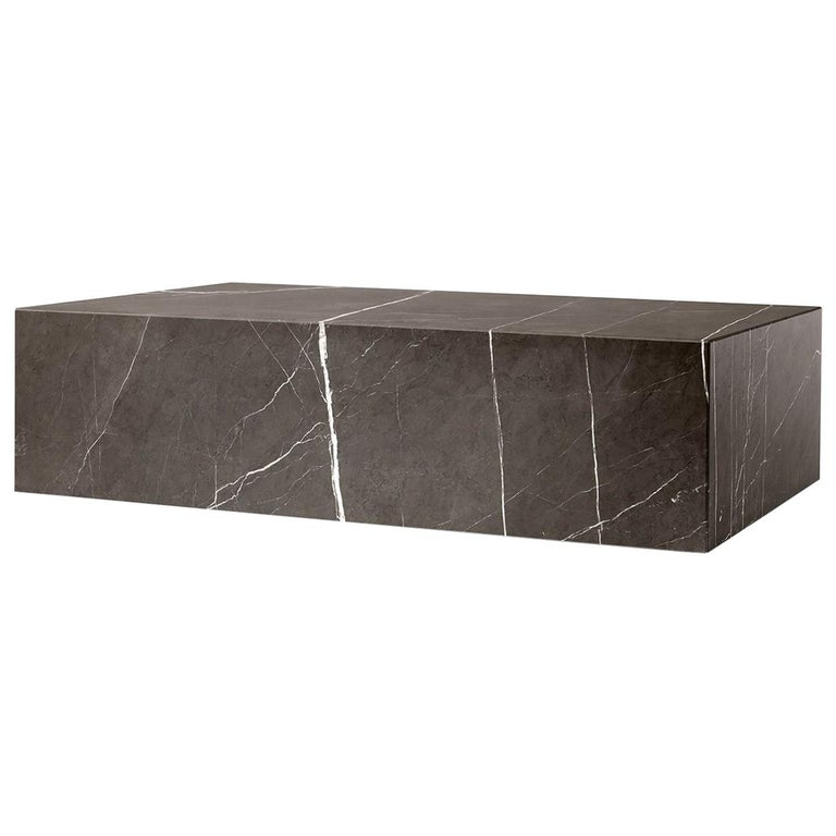 Plinth, Low, Grey Marble For Sale