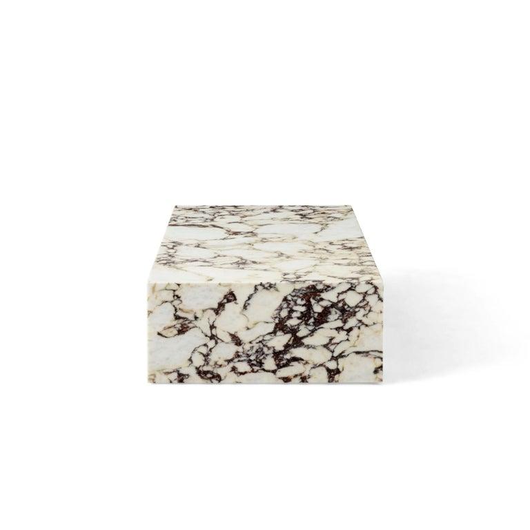 Scandinavian Modern Plinth, Low, Rose Marble For Sale