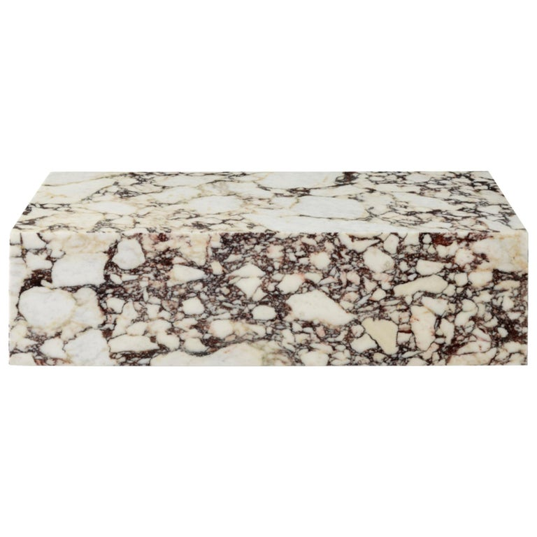 Plinth, Low, Rose Marble For Sale